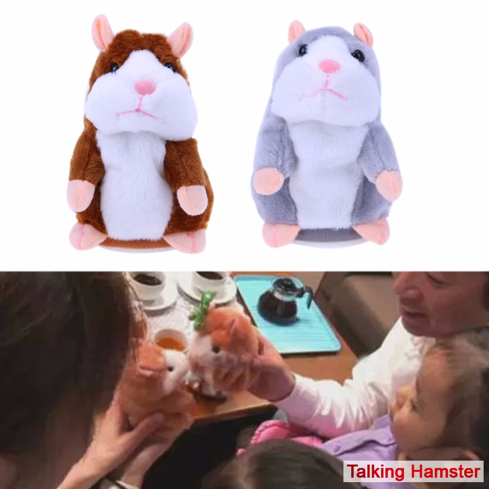 Image 2 - Kids Hamster Plush Speak Sound Toys Baby Electronic Pets Cute Plush Dolls Sound Record Speaking Hamster Talking Toys Xmas Gifts-in Electronic Pets from Toys & Hobbies