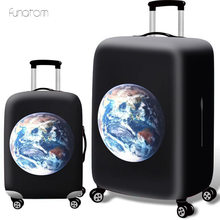 Travel Accessories Earth print Luggage Cover Case For a Suitcase Protection Dust Cover Stretch Suitcase Cover Bag S/M/L/XL suitcase case travel trolley suitcase protective cover for s m l xl 18 32 inch travel accessories luggage cover