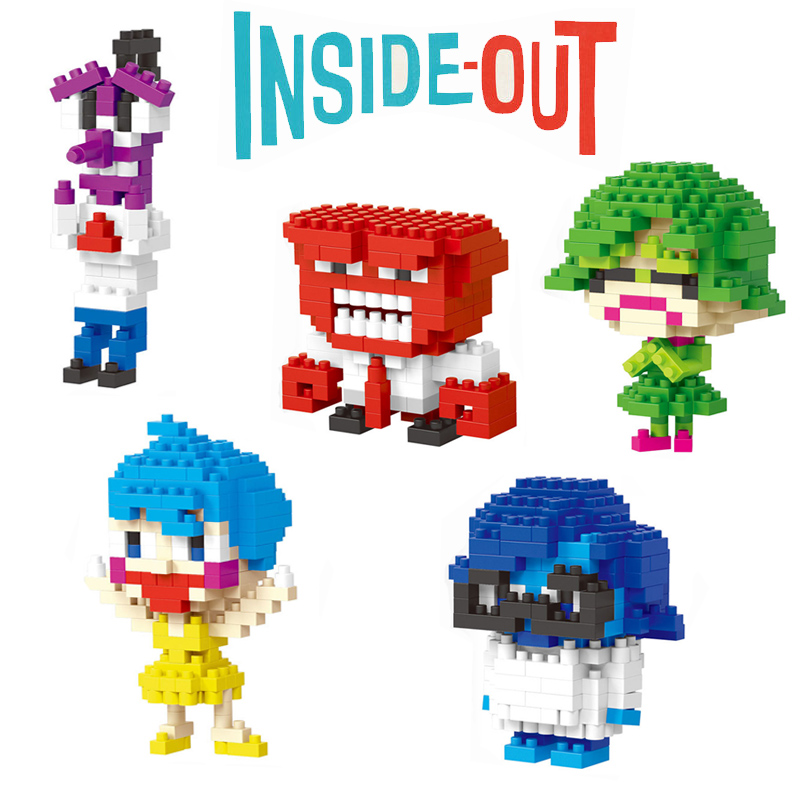 <font><b>Inside</b></font> <font><b>Out</b></font> Action <font><b>Figures</b></font> <font><b>Anger</b></font> Emotion Model Movie Cartoon Characters Fun Toys Best Gift For Children Mini Assembled Blocks