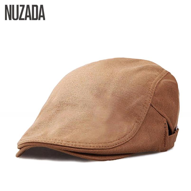 NUZADA 2017 Spring Summer Autumn Retro Leisure Women Men Unisex Beret Hats Flat Cap Visor Quality Cotton Bone Caps Boina Chapeu
