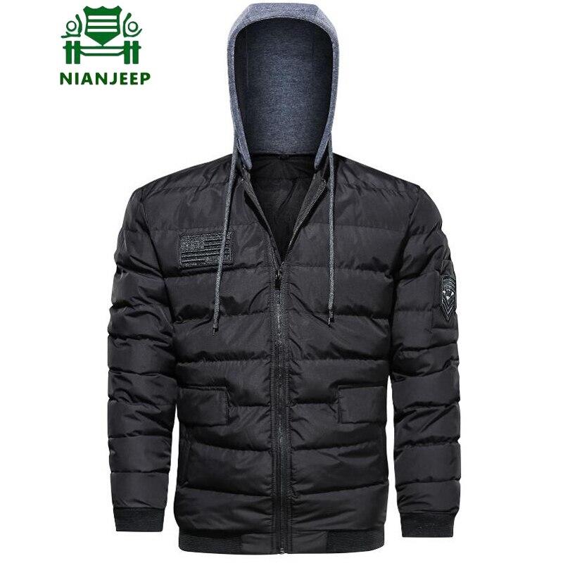 3f3377834 Chaqueta de Invierno con capucha militar negra para Hombre 2019 ropa de  marca gruesa abrigo Parkas hombres Chaqueta Hombre Invierno talla grande 5XL