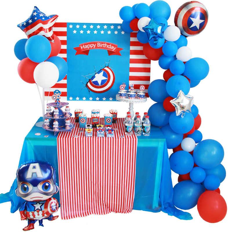 Captain America Avengers Pesta Ulang Tahun Dekorasi Balon