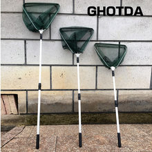 Aluminum Alloy 150/170/210cm Retractable Fishing Net Telescoping Foldable Landing Net Pole Folding Landing Net For Fly Fishing