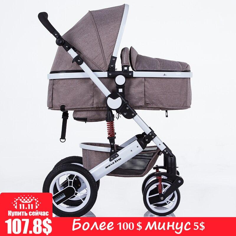 Zhilemei poussette haute paysage peut s'asseoir ou de s'allonger choc hiver enfants bébé poussette double sens pont chariot livraison gratuite