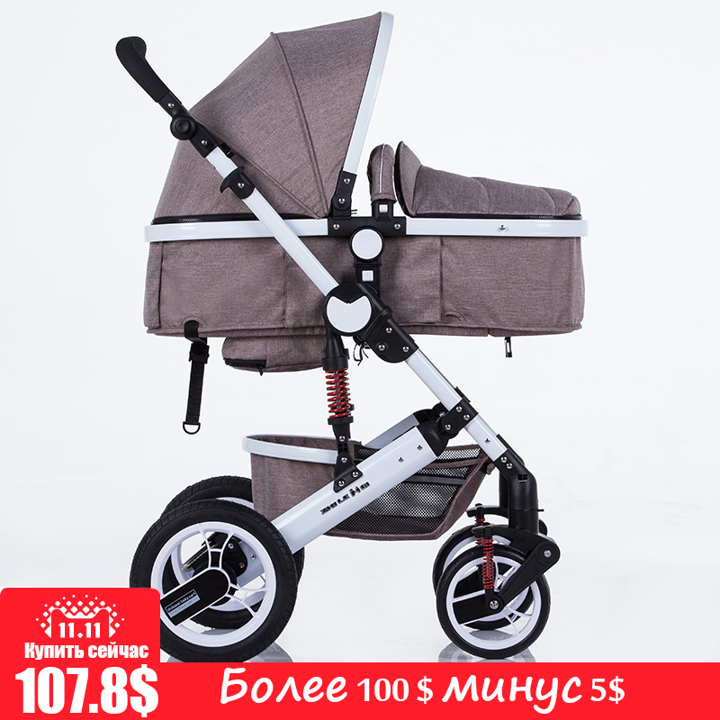все цены на zhilemei stroller high landscape can sit or lie shock winter children baby stroller two-way deck trolley free delivery
