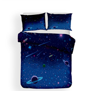 Image 2 - Bedding Set 3D Printed Duvet Cover Bed Set Planet Starry Sky Home Textiles for Adults Lifelike Bedclothes with Pillowcase #ET03