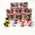 8Pcs/lot Canine Patrol Dog + Shield Model Toys Cartoon Anime Action Patrol Puppy Doll Toy Movie TV For Children Birthday Gift