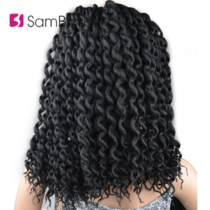 Image 1 - SAMBRAID Faux Locs Curly Crochet Hair Crochet Braids 24 Inch Braiding Hair Extensions Synthetic Hair For Women