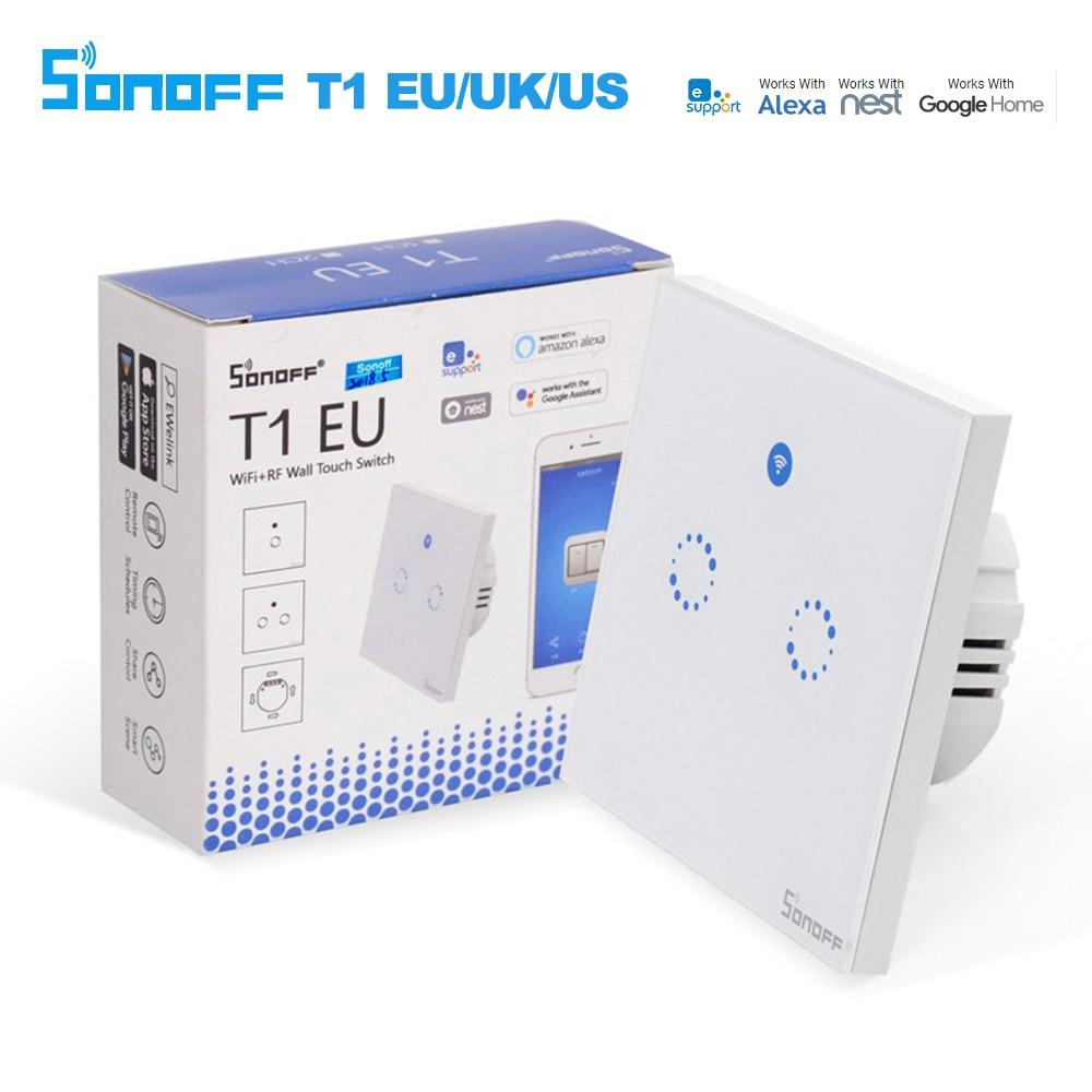 Sonoff T1 EU Smart Wifi Wand Touch Licht Schalter 1 Gang 2 Gang ...
