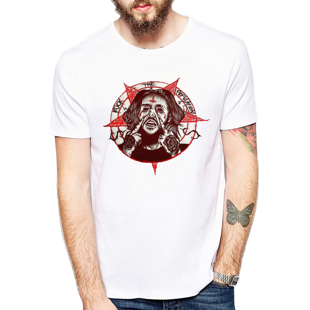 Suicide T-shirt men summer t-shirt boy print tshirt anime t shirt brand clothing white color tops tees