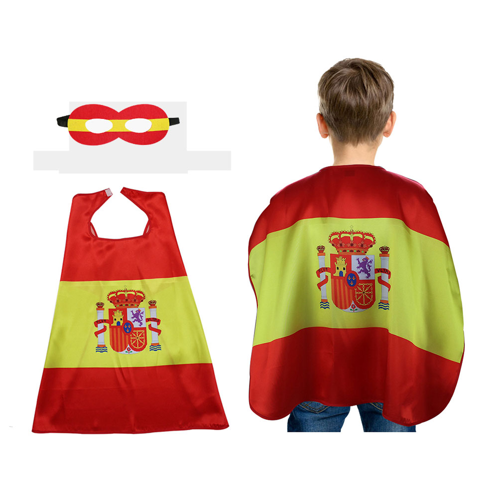 Special L 27* Spain flag decorations child cape mask gift Festival football fan gifts champion celebration national flag