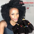 "Afro Kinky Curly Marley Synthetic Hair Colors 24"" Crochet Braid Hair Senegalese Twist For Black Women Hair Extensions Mega Hair"