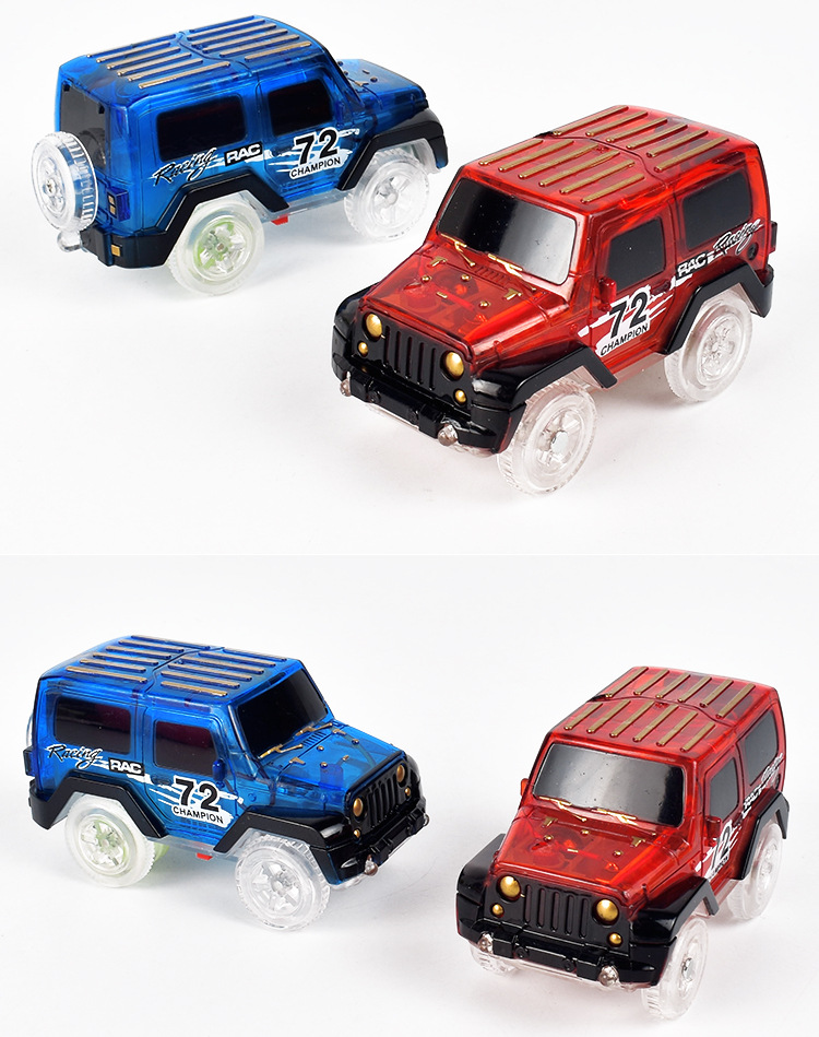 Shineheng Electronics LED Car Toys with Flashing Lights and Tracks together
