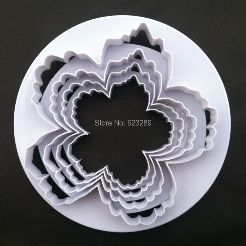 Sporting Wholesale 10 Sets/lot Bigger Peony Petals Cutters 4pcs/set Gum Paste Flowers Cake Decorating Cutter Fondant Mold Tools Commodities Are Available Without Restriction Cake Molds