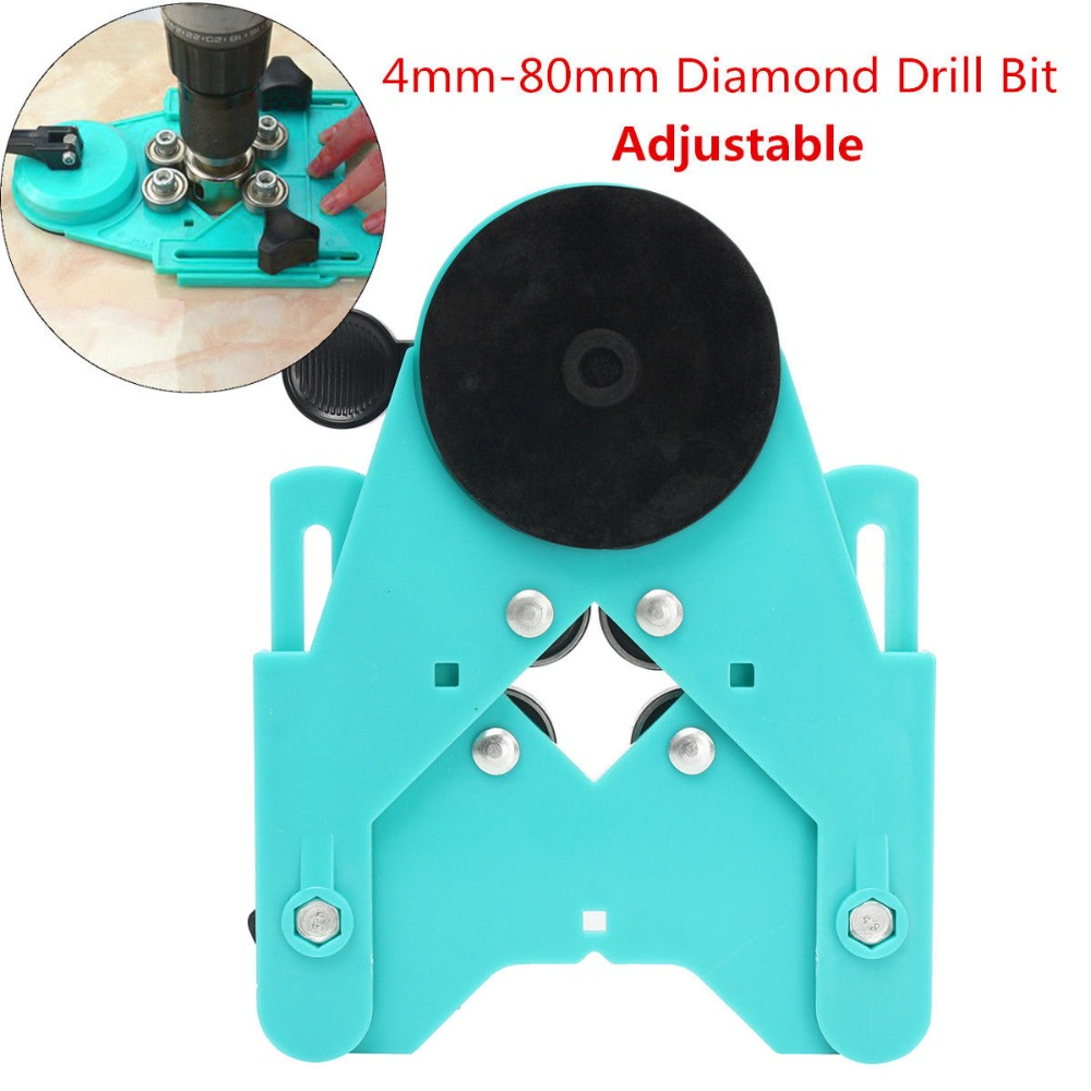 Adjustable 4mm-80mm Diamond Drill Bit Glass Hole Saw Guide Sucker Base Locator best promotion 10pcs set diamond holesaw 3 50mm drill bit set tile ceramic porcelain marble glass top quality