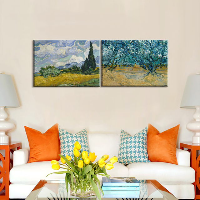Van Gogh Oil Painting Framed Picture Painting Abstract Landscap Wall ...