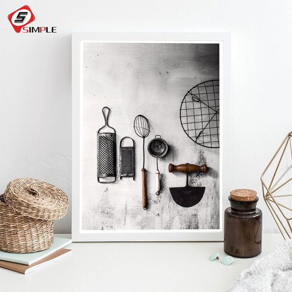 Kitchen Poster Herb Chopper Wall Art Canvas Painting