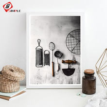 Kitchen Poster Herb Chopper Wall Art Canvas Painting Modern Cuadros Decor Wall Pictures For Living Room Nordic Poster No Frame(China)