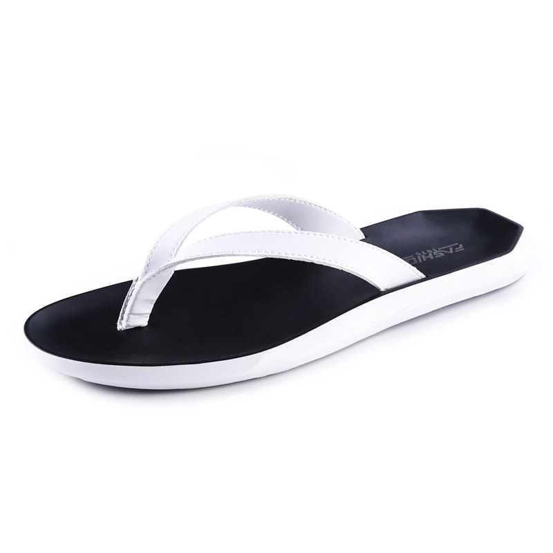 Summer Fashion Men Solid Soft Flip Flops Casual Male Outdoor Beach Shoes Classic PU Leather Flat Sandals Leisure Footwear Z184 new arrival summer men sandals leisure solid waterproof male outdoors slippers pu leather fashion slip on sandals w1 35