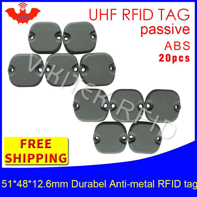 UHF RFID metal tag 915m 868m M4QT 20pcs free shipping 51*48*12.5mm construction machinery durable ABS smart passive RFID tags стекло размер 1470 915 4 тольятти цена