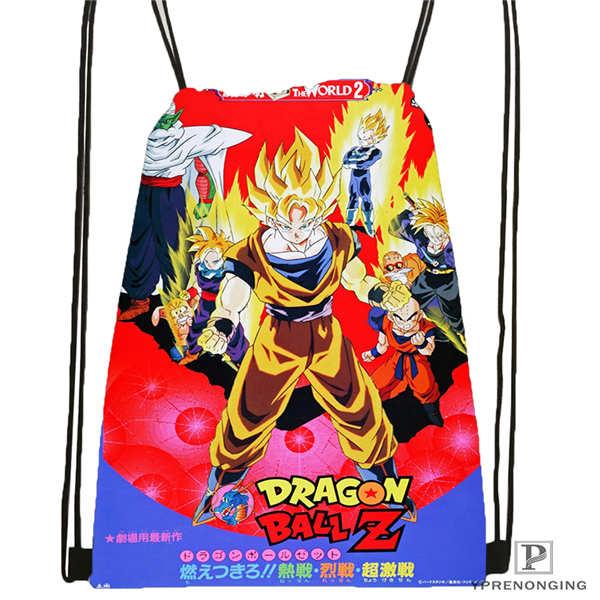 Custom dragon ball 1 Drawstring Backpack Bag Cute Daypack Kids Satchel Black Back 31x40cm 2018611 1