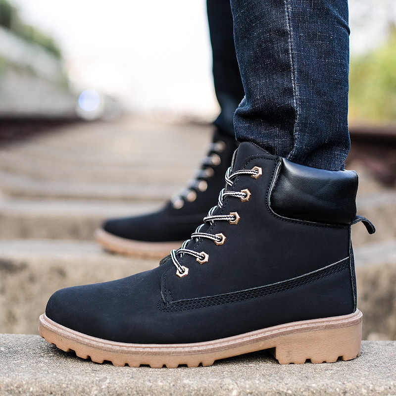 245b0694488 ... 2018 New Autumn Winter Boots Men Suede Leather Unisex Fashion Snow  boots Male Work Shoes Lover ...
