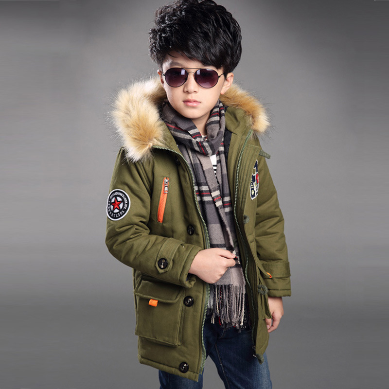 Kids boys winter padded jacket 2017 new baby boys fashion clothing big virgin thick hoodie 6/7/8/9/10/11/12/13/14 years цены онлайн