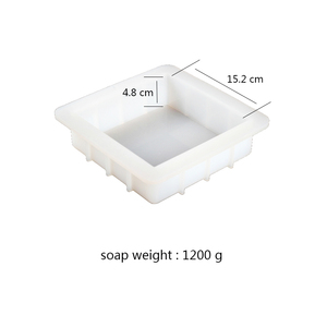 Image 2 - Square Silicone Soap Mold Handmade White Loaf Soap Mould Soap Making Tools