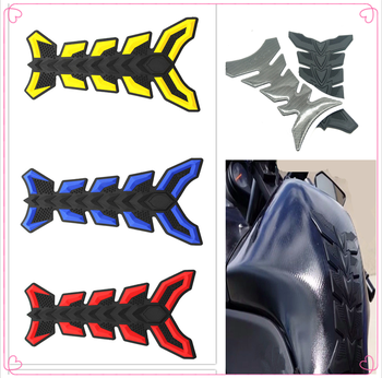 Motorcycle fish Pad Oil Gas Fuel Tank Cover Sticker Decal Protector for HONDA CR80R 85R CRF150R CR125R 250R CRF250R image