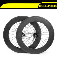 Carbon Track Wheels 88mm Clincher Wheelset Bike Track Carbon Fixed Gear Bike Wheel Set 700c With