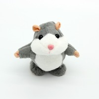 18cm mini Lovely soft Talking work Hamster Speak Sound Record Repeat Animal Kawaii Electric Dancing Toys For Children gift boys