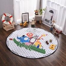 Мультфильм животных ванной carpet, 100% полиэстер круглый коврик для спальни, стирать в стиральной машине коврик для детей, 1.5 м size floor carpet