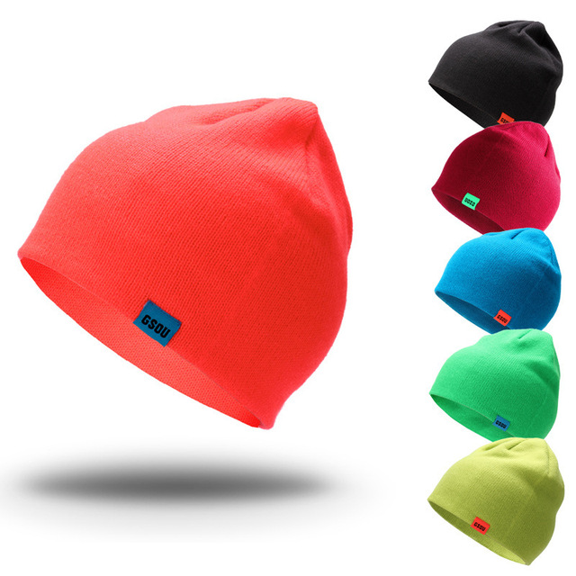 afecf0f2e US $10.15 19% OFF GSOU SNOW Brand Ski Hat Men Women Snowboarding Hats  Autumn Winter Outdoor Cap Unisex Windproof Solid Skiing Hiking Skate  Caps-in ...