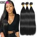 Beyo Straight Hair Bundles 100% Human Hair Bundles Non-Remy Hair Extensions 1/3/ 4 Bundle Deals 8-28 Inch Indian Hair Bundles