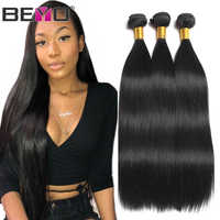 Beyo Straight Hair Bundles 100% Human Hair Bundles Non-Remy Hair Extensions 1/3/ 4 Bundle Deals 8-28 Inch Indian Hair Bundles