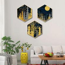 Abstract moonlight forest wall painting living room background corridor mural Hotel decorative