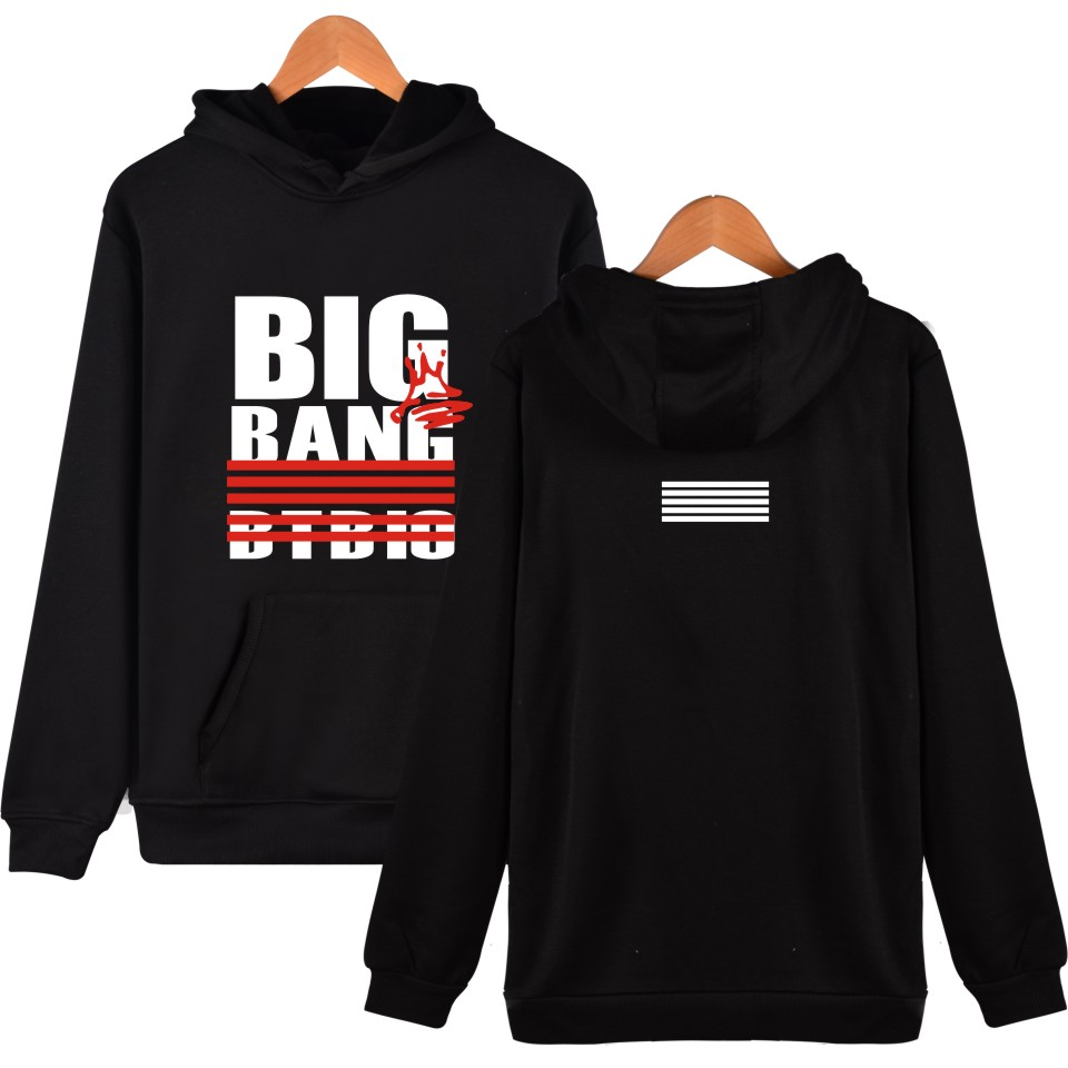 Bigbang Hoodie Men Hip Hop Cool Clothes Harajuku Sweatshirt Hoodies Autumn Winter Top GD Size ...