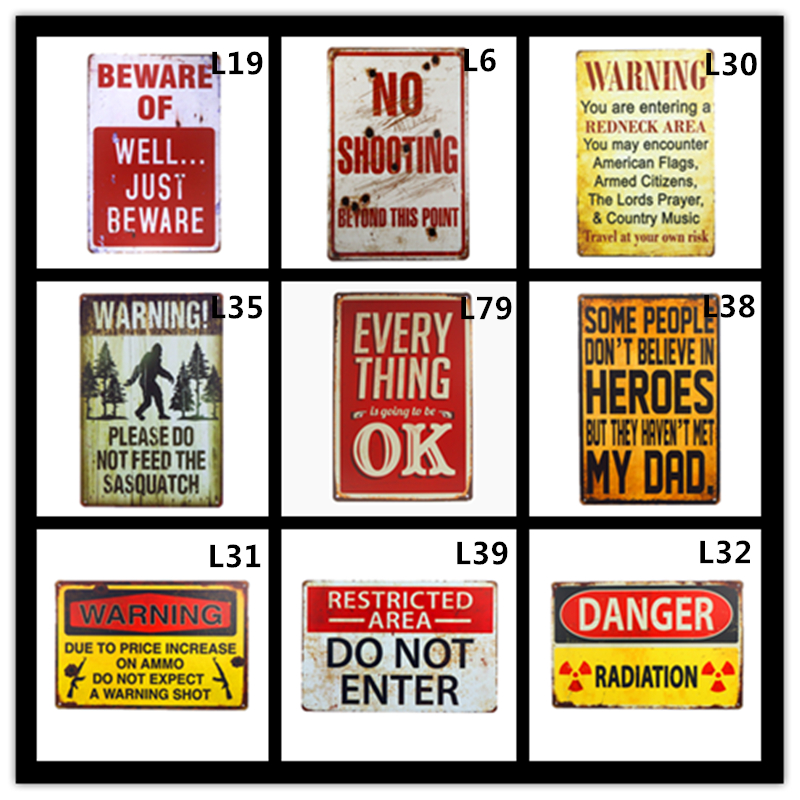 Méfiez-vous des Zombies Sasquatch métal signe décor mural étain signe Vintage maison mur décor peinture Plaques Art avertissement affiche