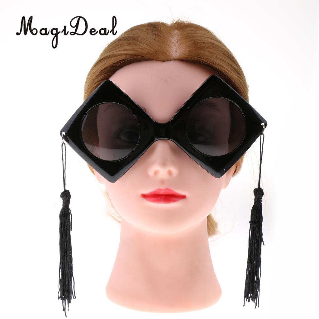 a79211db6c0 Detail Feedback Questions about 2pcs Vintage Fun Black Master Doctor Graduation  Hat Design Sunglasses Tassels Party Photo Booth Glasses Fancy Dress ...