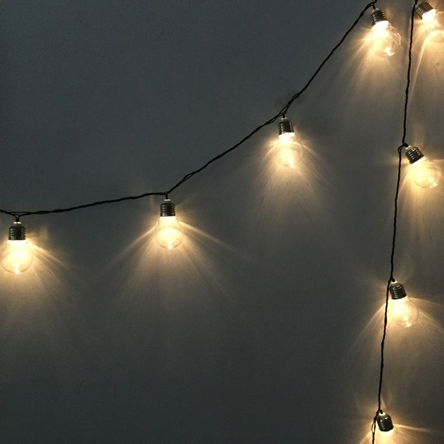 1X 6Meters 20Led 5CM Patio Clear Globe Led String Light, AC220V EU PLUG, Wedding Party Fairy String Lights, Christmas Lights