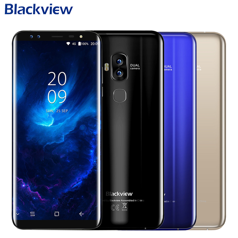 Original Blackview S8 Cell Phone 5 7inch Screen 4GB RAM 64GB ROM MT6750T Octa Core Android