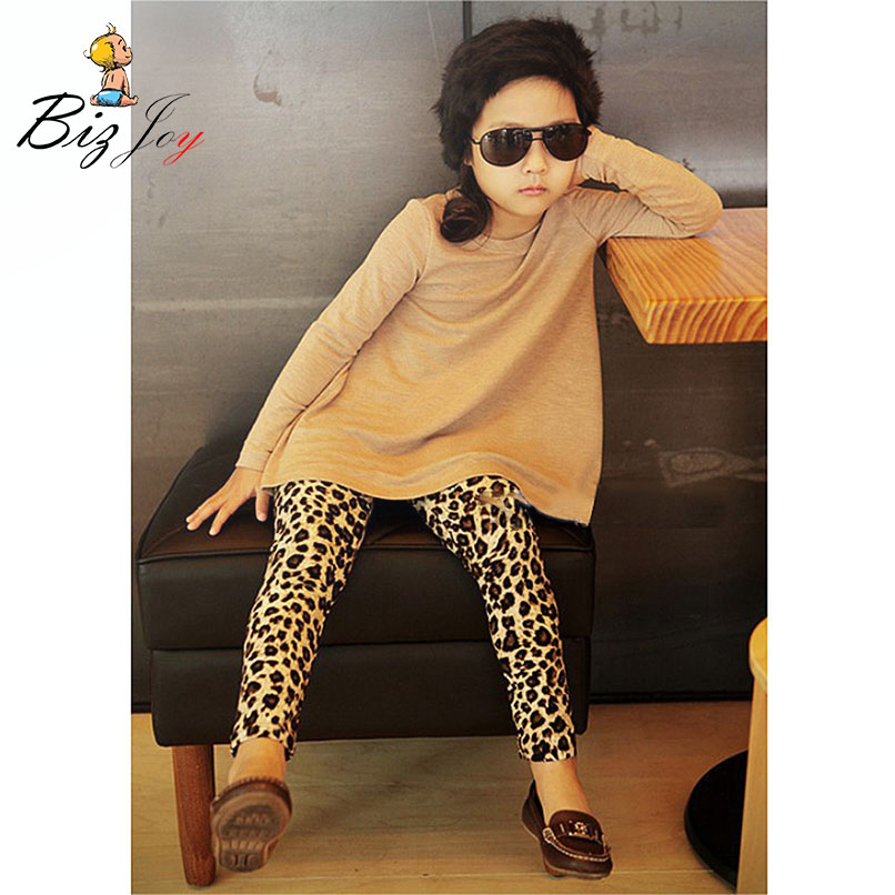 Girls Brown Leopard Pants Animal Fashion Stylish Trendy