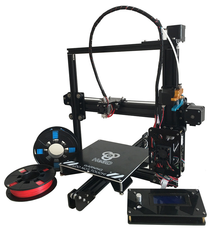 Reprap large build area 200*280*200mm_HE3D EI3 Single extruder_prusa i3 E3D nozzle 3d printer kit_ PLA filaments for gift