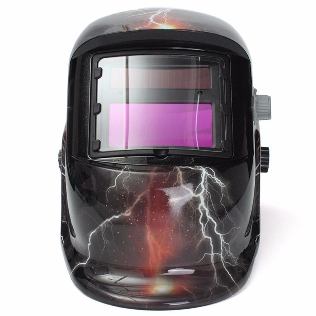 1pc Skull Ghost Lightning Pro Solar Auto-Darkening Welding Helmet Arc MIG Protective Welder Face Mask Mayitr professional welding wire feeder 24v wire feed assembly 0 8 1 0mm 03 04 detault wire feeder mig mag welding machine ssj 18