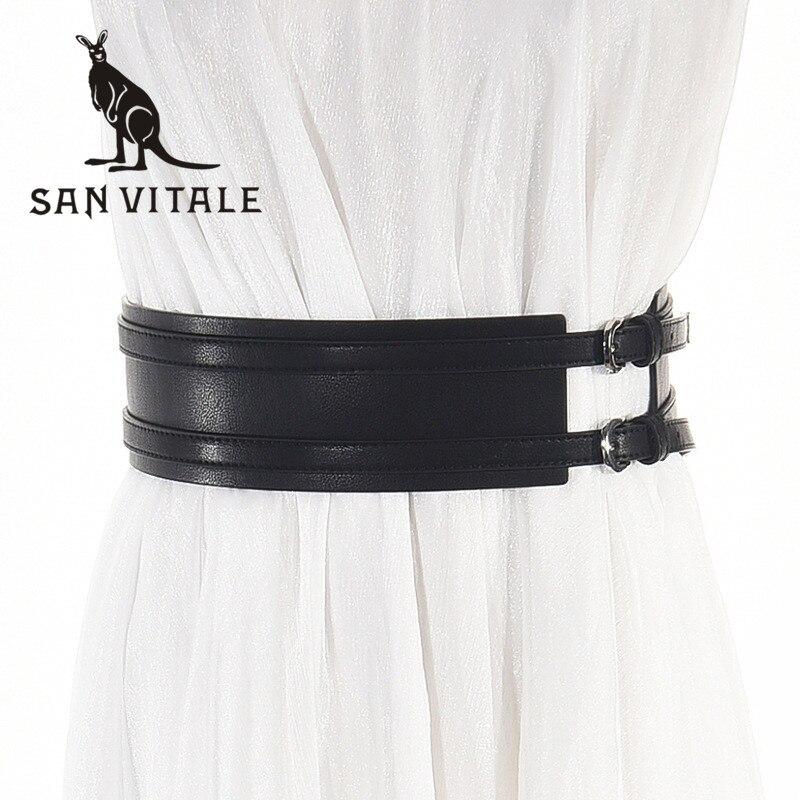 Women'S Belt Belts 2018 New Leather Famous Brand Waistband Suspenders Waist Cinturones Cummerbunds Summer Woman Black Stretch