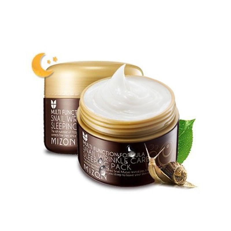 MIZON Snail Wrinkle Care Sleeping Pack 80ml Face Skin Care Moisturizing Firming Anti Wrinkle Night Treatment Sleep Facial Mask
