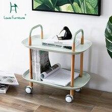 Луи Мода Кухня острова тележка скандинавские упрощенная гостиная Вмещает мобильный диван дома Многофункциональный обеденный автомобиль