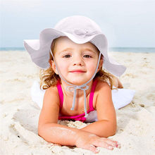 New fashion design Summer Toddler Baby Kids Girls Boys Candy Solid Ribbons Breathable Hat Bucket Cap 0-4Years old baby kids F1(China)