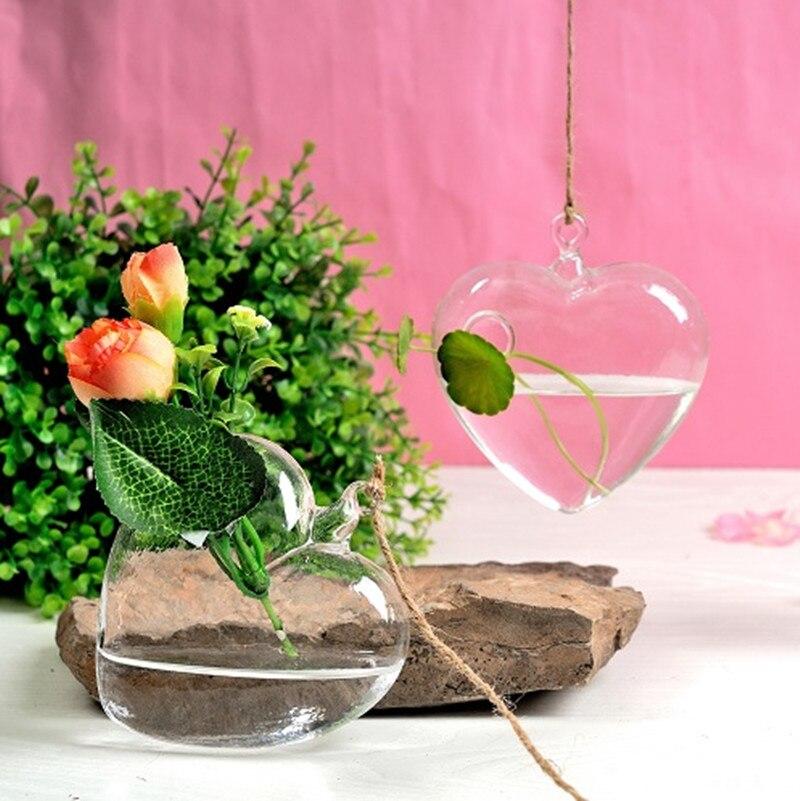Висит стеклянной вазе / творческий гидропоники цветок / бутылка украшения дома / свадьба реквизит в форме сердца ваза