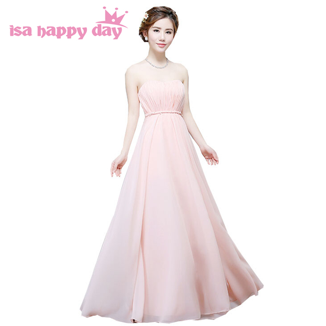women long summers pleated sleeveless pastel chiffon gown bridesmaid ...